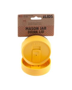 Drink Lid for Mason Jar iLid Regular Mouth_YellowIL RM DRK Yellow