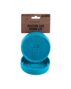 Drink Lid for Mason Jar iLid Wide Mouth_ Aqua BlueIL WM DRK Aqua Blue