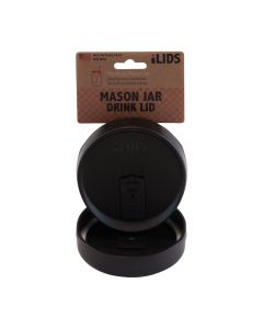 Drink Lid for Mason Jar iLid Wide Mouth_BlackIL WM DRK Black