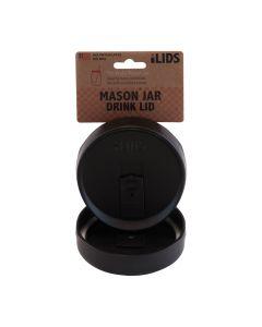 Drink Lid for Mason Jar iLid Wide Mouth_BlackIL WM DRK Black