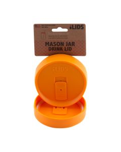 Drink Lid for Mason Jar iLid Wide Mouth OrangeIL WM DRK Orange