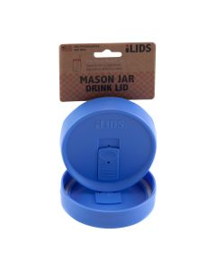 Drink Lid for Mason Jar iLid Wide Mouth PeriwinkleIL WM DRK Periwinkle