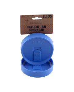 Drink Lid for Mason Jar iLid Wide Mouth PeriwinkleIL WM DRK Periwinkle
