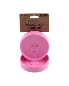 Drink Lid for Mason Jar iLid Wide Mouth PinkIL WM DRK Pink