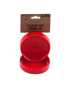 Drink Lid for Mason Jar iLid Wide Mouth RedIL WM DRK Red