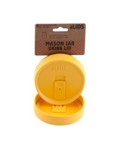 Drink Lid for Mason Jar iLid Wide Mouth YellowIL WM DRK Yellow