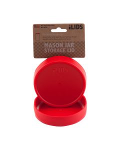 Storage Lid for Mason Jar iLid Wide Mouth  RedIL WM Storage Red