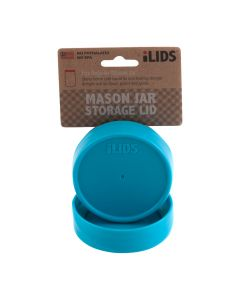 Storage Lid for Mason Jar iLid Regular Mouth – Aqua BlueIL RM Storage Aqua Blue