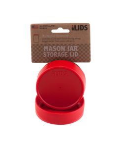 Storage Lid for Mason Jar iLid Regular Mouth RedIL RM Storage Red