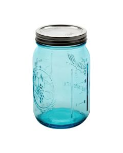 BLUE Ball Collection Elite Wide Mouth Quart Jars with Bands and LidsJ69024